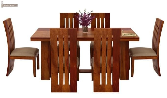 Jaoquin 6 Seater Dining Set (Honey Finish)-3