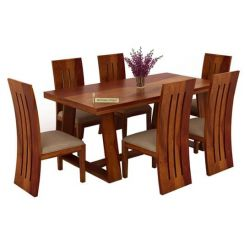 Jaoquin 6 Seater Dining Set (Honey Finish)