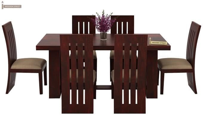 Jaoquin 6 Seater Dining Set (Mahogany Finish)-4