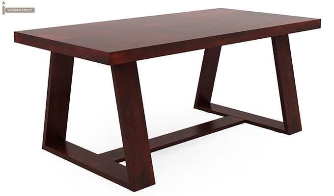 Jaoquin 6 Seater Dining Set (Mahogany Finish)-10