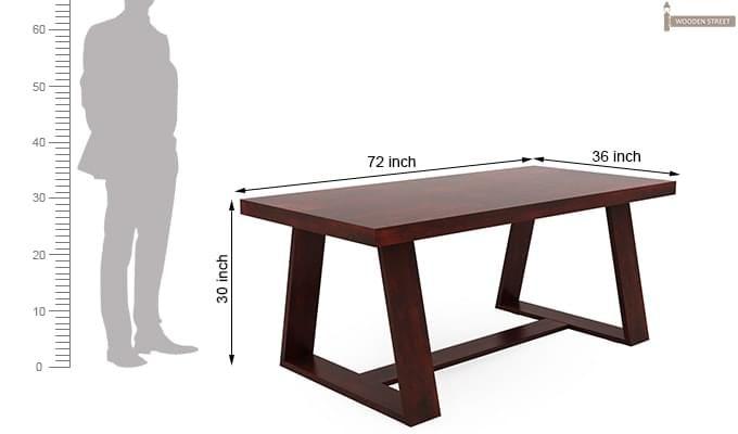 Jaoquin 6 Seater Dining Set (Mahogany Finish)-14