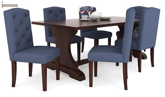 Jeor Six Seater Dining Set (Walnut Finish)-2