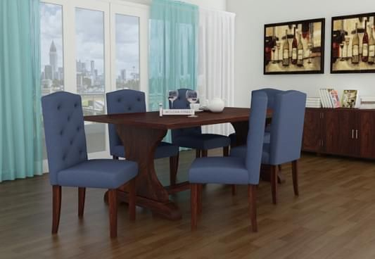 6 Seater Dining Table Online : Six Seater Dining Table Set India ...