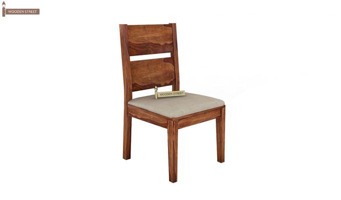 Kietel 6 Seater Dining Set With Bench (Teak Finish)-5
