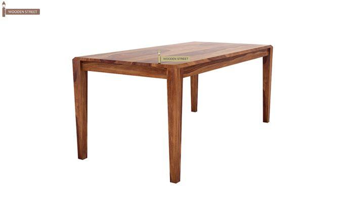 Kietel 6 Seater Dining Set With Bench (Teak Finish)-7