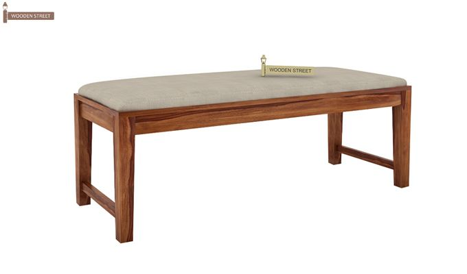 Kietel 6 Seater Dining Set With Bench (Teak Finish)-9