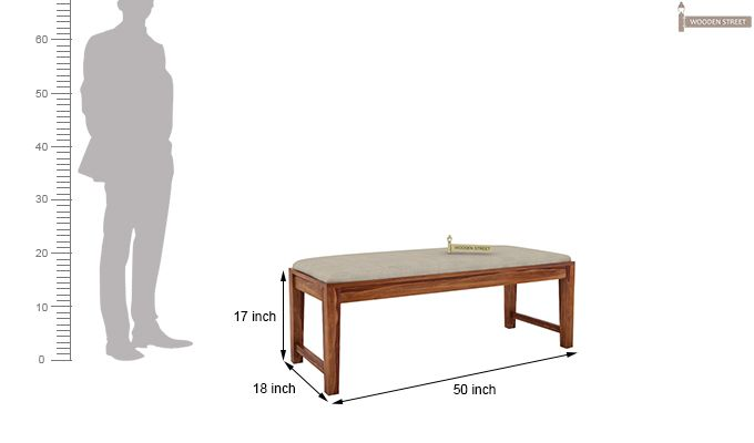 Kietel 6 Seater Dining Set With Bench (Teak Finish)-12