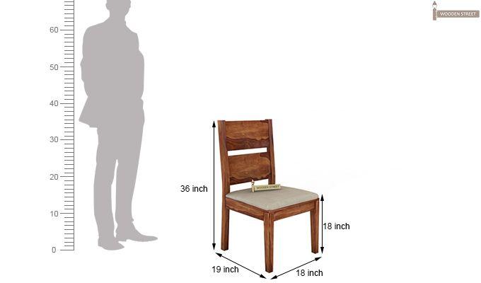 Kietel 6 Seater Dining Set With Bench (Teak Finish)-11