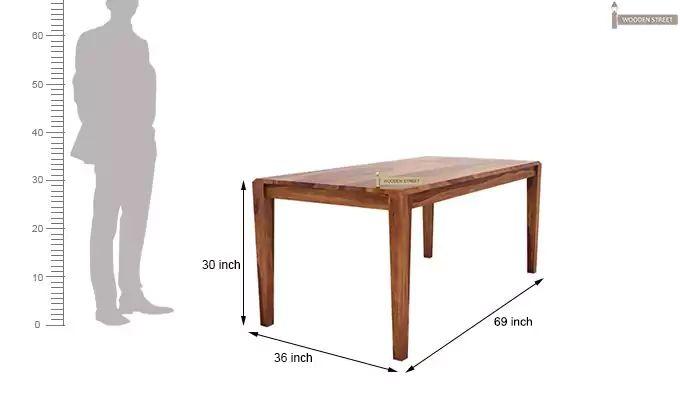 Kietel 6 Seater Dining Set With Bench (Teak Finish)-10