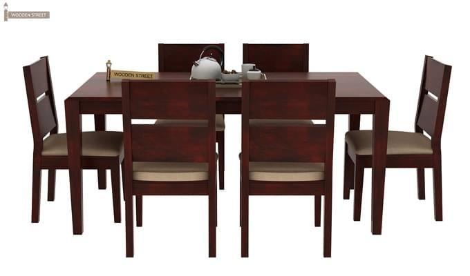 Kietel 6 Seater Dining Set (Mahogany Finish)-3