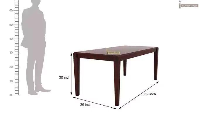 Kietel 6 Seater Dining Set (Mahogany Finish)-9