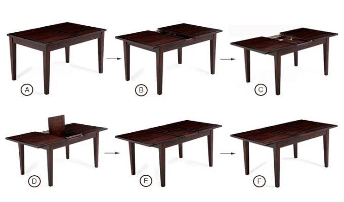 Franco Extendable 6 Seater Dining Set (Mahogany Finish)-6