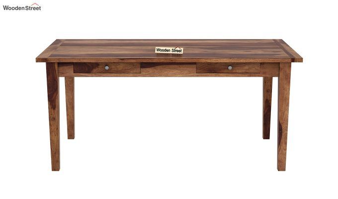 Mcbeth Storage 6 Seater Dining Table Set With Bench (Teak Finish)-5
