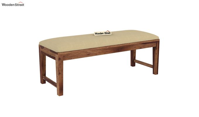 Mcbeth Storage 6 Seater Dining Table Set With Bench (Teak Finish)-9