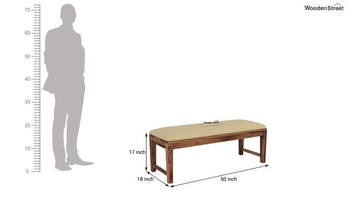 Mcbeth Storage 6 Seater Dining Table Set With Bench (Teak Finish)-14