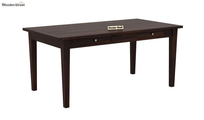 Mcbeth Storage 6 Seater Dining Table Set With Bench (Walnut Finish)-4