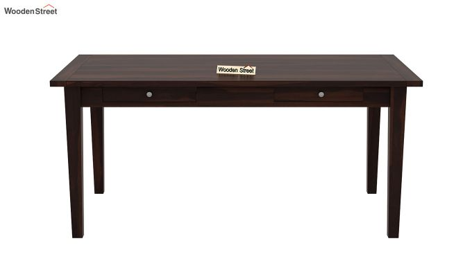 Mcbeth Storage 6 Seater Dining Table Set With Bench (Walnut Finish)-5
