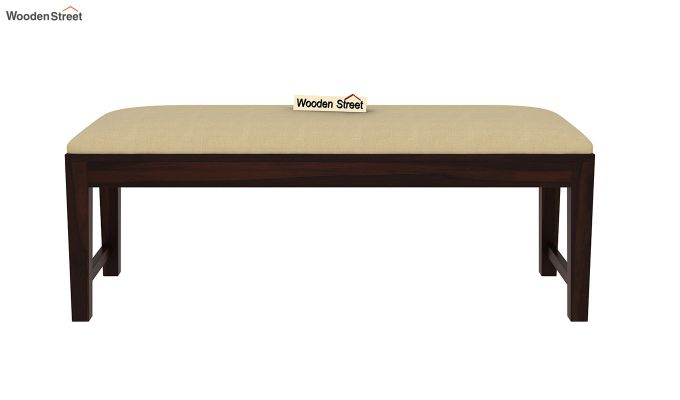 Mcbeth Storage 6 Seater Dining Table Set With Bench (Walnut Finish)-10