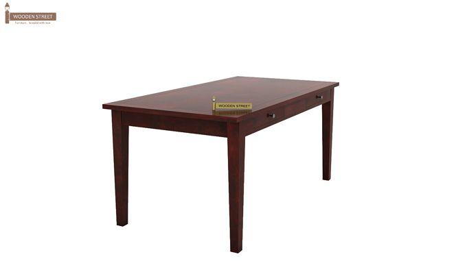 Mcbeth Storage 6 Seater Dining Table Set With Bench (Mahogany Finish)-3