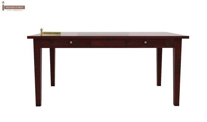 Mcbeth Storage 6 Seater Dining Table Set With Bench (Mahogany Finish)-4