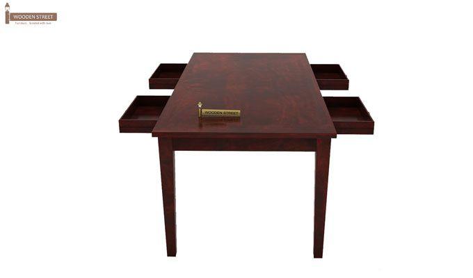 Mcbeth Storage 6 Seater Dining Table Set With Bench (Mahogany Finish)-5