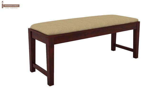 Mcbeth Storage 6 Seater Dining Table Set With Bench (Mahogany Finish)-8