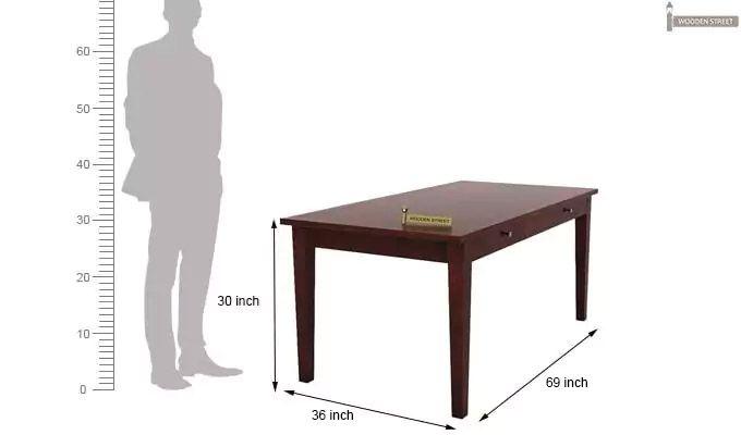 Mcbeth Storage 6 Seater Dining Table Set With Bench (Mahogany Finish)-9