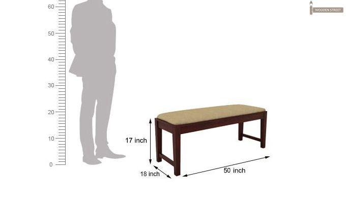 Mcbeth Storage 6 Seater Dining Table Set With Bench (Mahogany Finish)-11