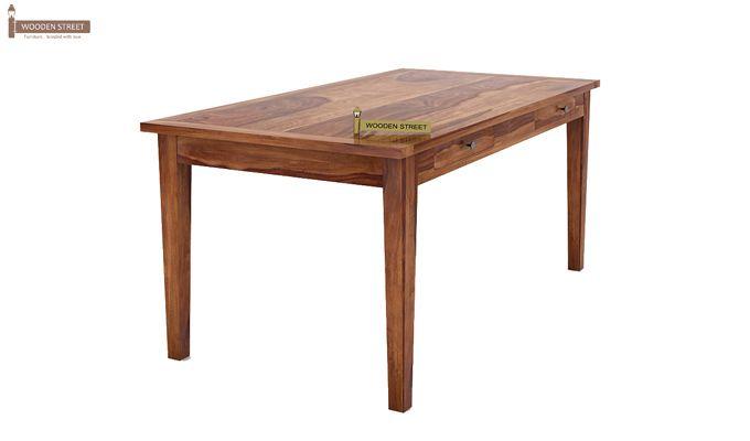 Mcbeth Storage 6 Seater Dining Table Set With Bench (Teak Finish)-4