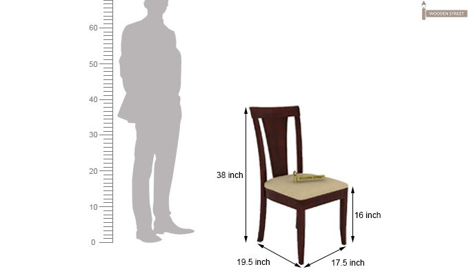 Mcbeth Storage 6 Seater Dining Table Set (Mahogany Finish)-10