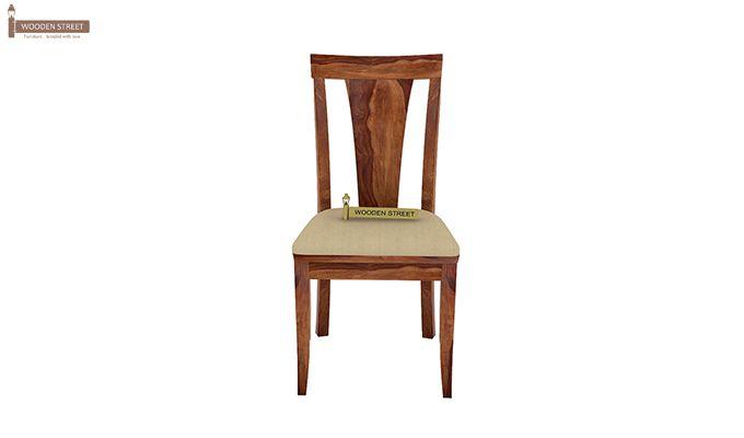 Mcbeth Storage 6 Seater Dining Table Set (Teak Finish)-12