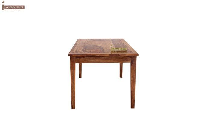Mcbeth Storage 6 Seater Dining Table Set (Teak Finish)-5