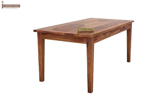 Mcbeth Storage 6 Seater Dining Table Set (Teak Finish)-6
