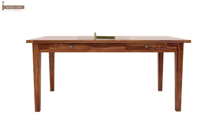 Mcbeth Storage 6 Seater Dining Table Set (Teak Finish)-7