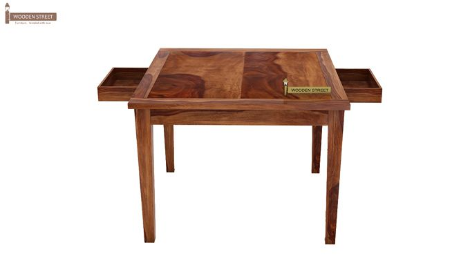 Mcbeth Storage 6 Seater Dining Table Set (Teak Finish)-9