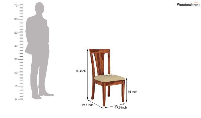 Mcbeth Storage 6 Seater Dining Table Set (Honey Finish)-11