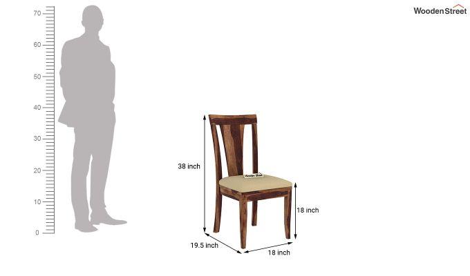 Mcbeth Storage 6 Seater Dining Table Set With Bench (Teak Finish)-12