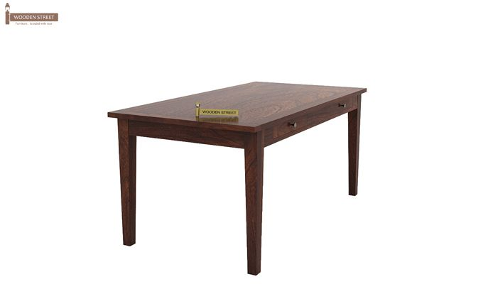 Mcbeth Storage 6 Seater Dining Table Set (Walnut Finish)-4