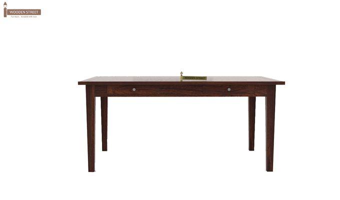 Mcbeth Storage 6 Seater Dining Table Set (Walnut Finish)-5