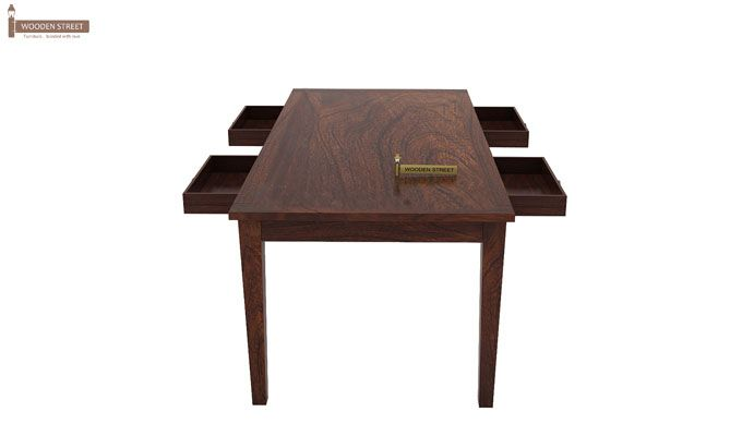 Mcbeth Storage 6 Seater Dining Table Set (Walnut Finish)-6