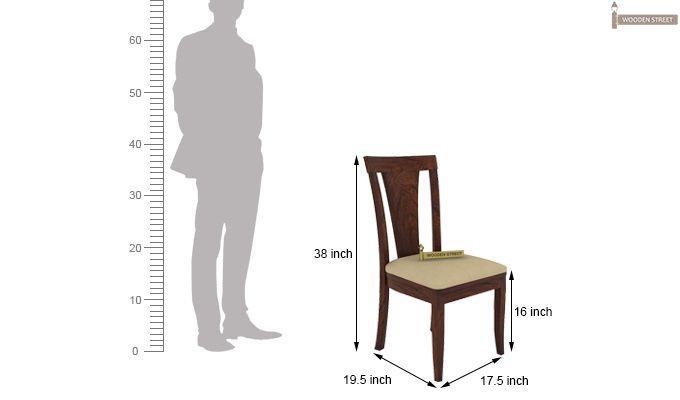 Mcbeth Storage 6 Seater Dining Table Set (Walnut Finish)-10