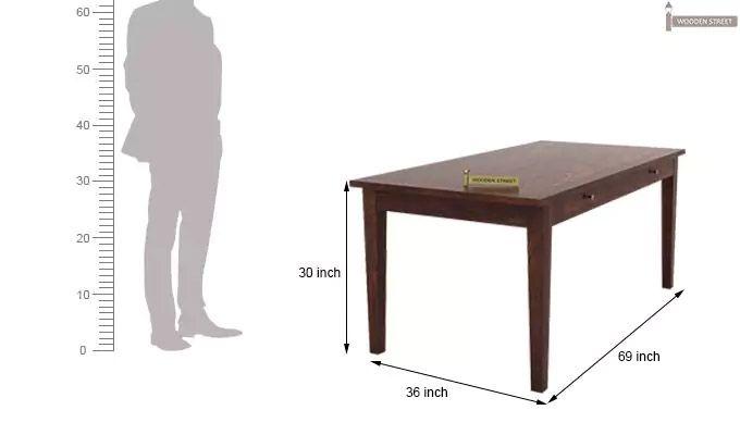 Mcbeth Storage 6 Seater Dining Table Set (Walnut Finish)-11