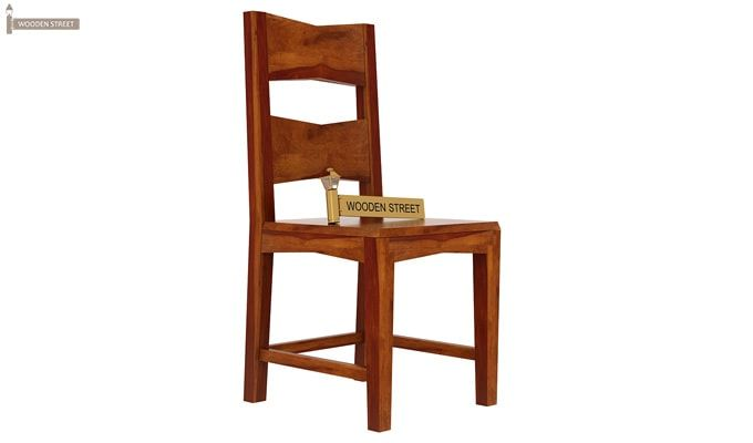 Mckinley 6 Seater Dining Set (Honey Finish)-5