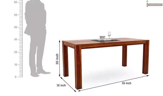 Mckinley 6 Seater Dining Set (Honey Finish)-8