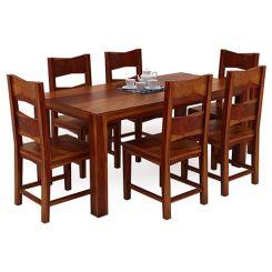 Mckinley 6 Seater Dining Set (Honey Finish)