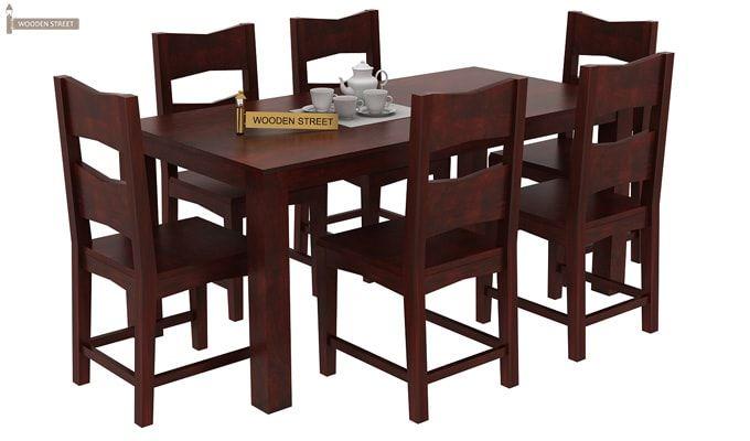 Mckinley 6 Seater Dining Set (Mahogany Finish)-2