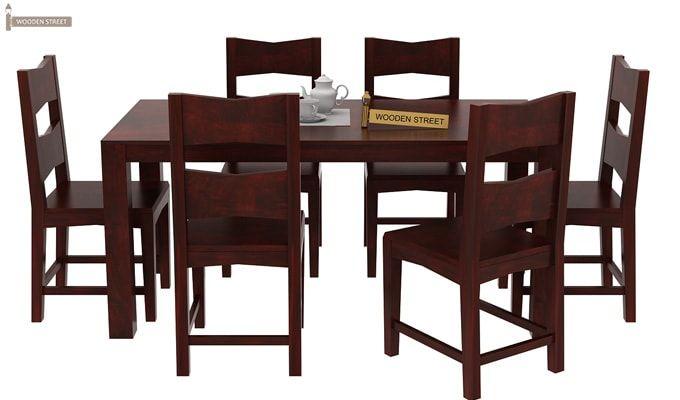Mckinley 6 Seater Dining Set (Mahogany Finish)-3