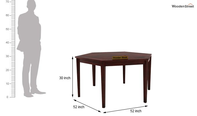 Mohave 6 Seater Dining Table Set (Mahogany Finish)-7