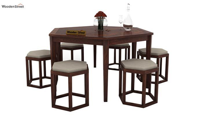 Buy Mohave 6 Seater Dining Table Set Walnut Finish