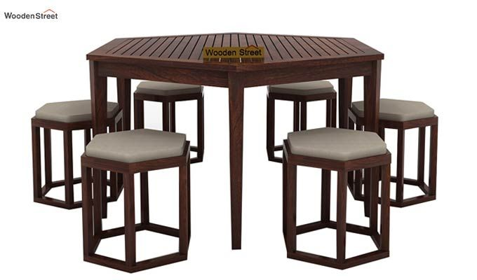 Mohave 6 Seater Dining Table Set (Walnut Finish)-3